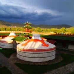 Mongolian gers.