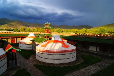 Mongolian gers. Credit EIA