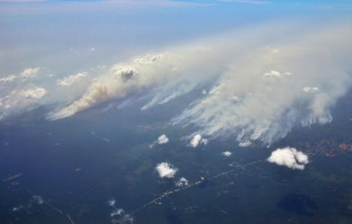 Aerial photo shows forest fires in Riau Province, 2013 (c) Antara / Virna Puspa Setyorini