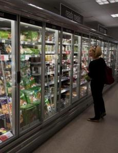 Doors on fridges at the Coop (c) EIA crop