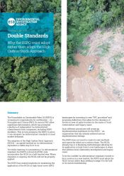 Sustainable palm oil and deforestation: Double Standards