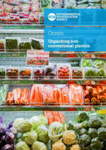 Front cover of our report entitled Unpacking non-conventional plastics
