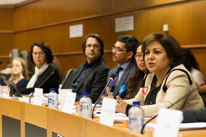 EU tiger event w Neena Gill, right,, May 2016 (c) EIA