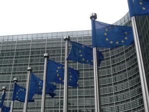European Commission flags