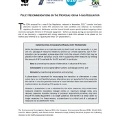 Policy Recommendations on the Proposal for an F-Gas Regulation