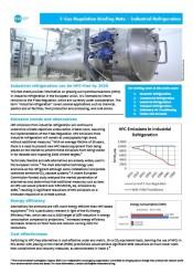 F-Gas Regulation Briefing Note – Industrial Refrigeration