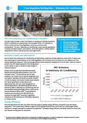 F-Gas Regulation Briefing Note – Stationary Air Conditioning