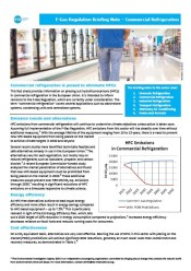 F-Gas Regulation Briefing Note – Commercial Refrigeration