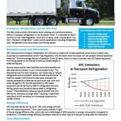 F-Gas Regulation Briefing Note – Transport Refrigeration