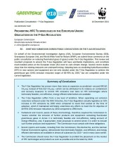 Joint NGO Submission During Public Consultation on the F-Gas Regulation