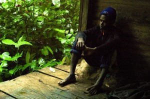 Frederick, at home in the Knasaimos Community, Papua (c) EIA