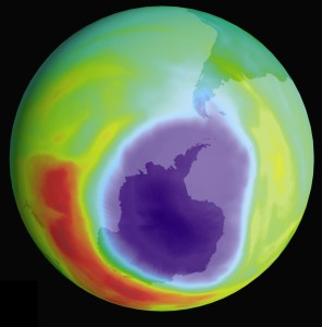 Hole in the ozone layer over Antarctica, 1998 (c) NASA