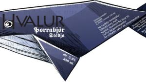 Hvalur whale beer label