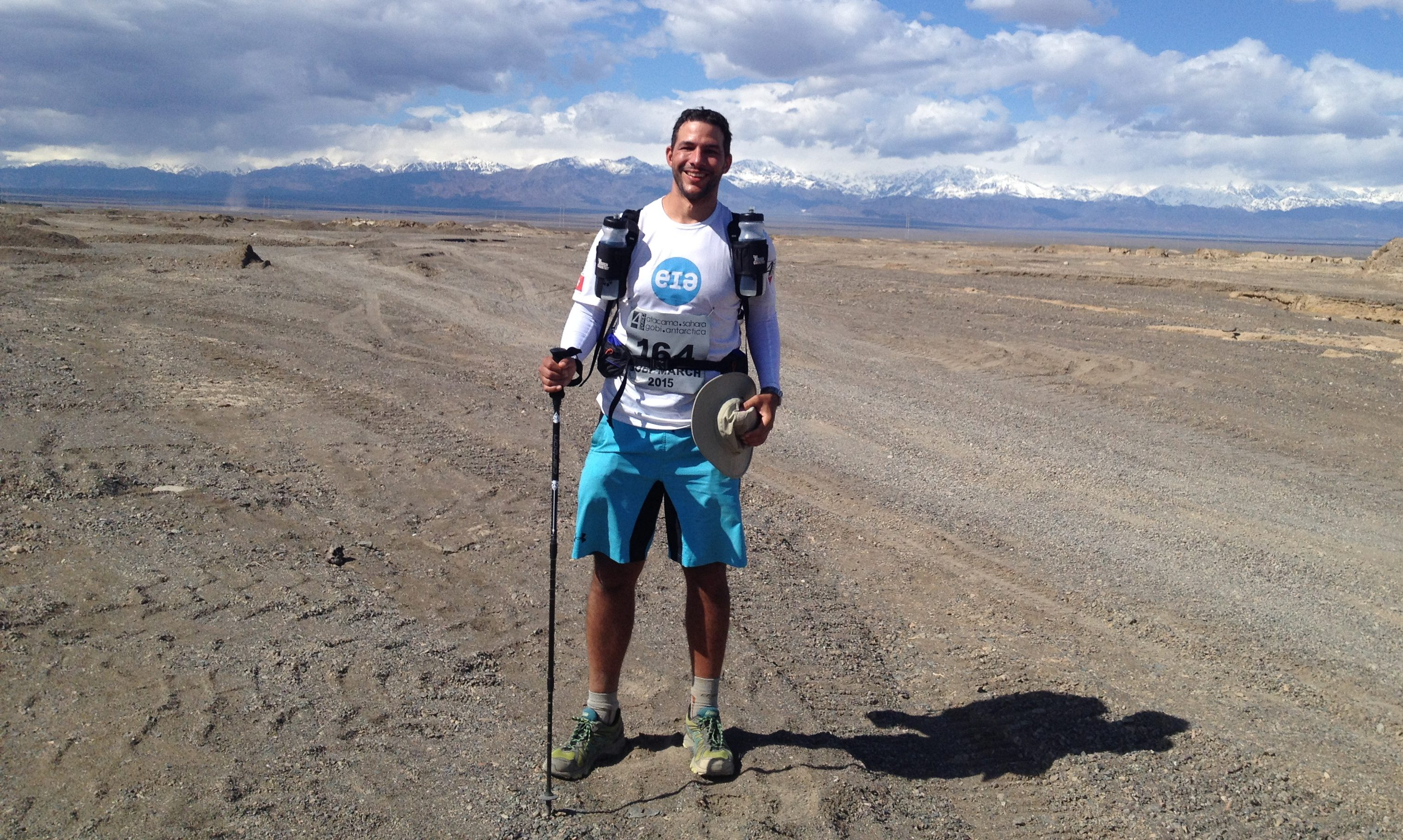 This is Nico Zurcher who took on the Gobi March for EIA in 2015.