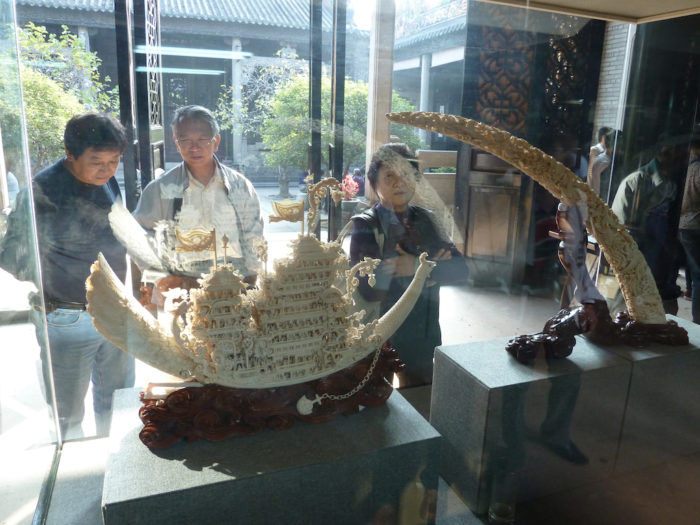 Ivory on sale in Hong Kong (c) EIA