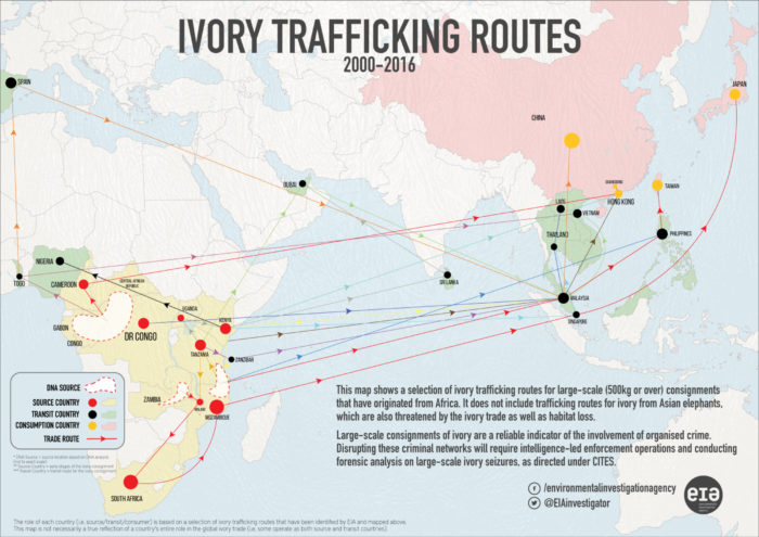 Ivory trade routes map - optimised
