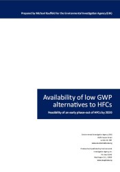 Availability of low GWP alternatives to HFCs: Feasibility of an early phase-out of HFCs by 2020
