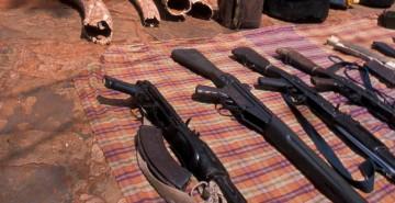 Kenya - recovered guns & ivory