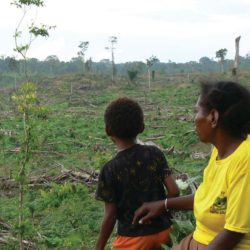 Manu Malak with his mother Maryodi, West Papua