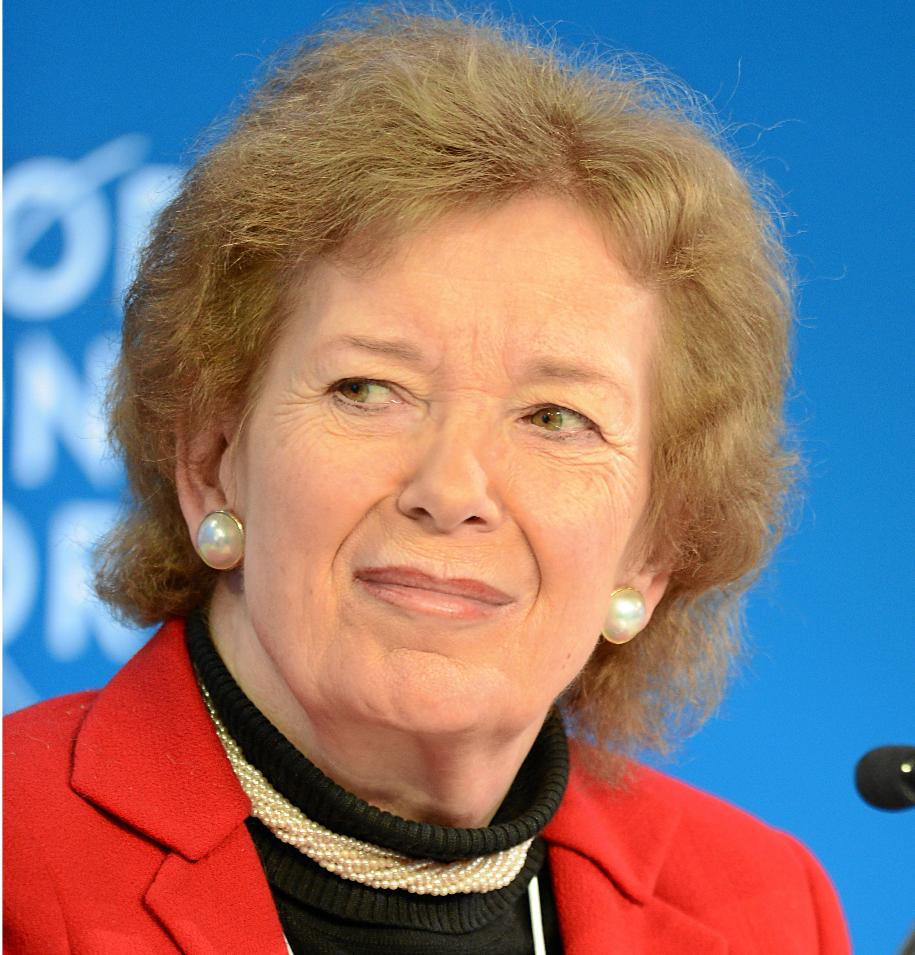 DAVOS/SWITZERLAND, 26JAN13 - Mary Robinson, President, Mary Robinson Foundation-Climate Justice, Ireland; Global Agenda Council on Human Rights speaks during the Session 'The Moral Economy: From Social Contract to Social Covenant' at the Annual Meeting 2013 of the World Economic Forum in Davos, Switzerland, January 26, 2013. Copyright by World Economic Forum swiss-image.ch/Photo Michael Wuertenberg