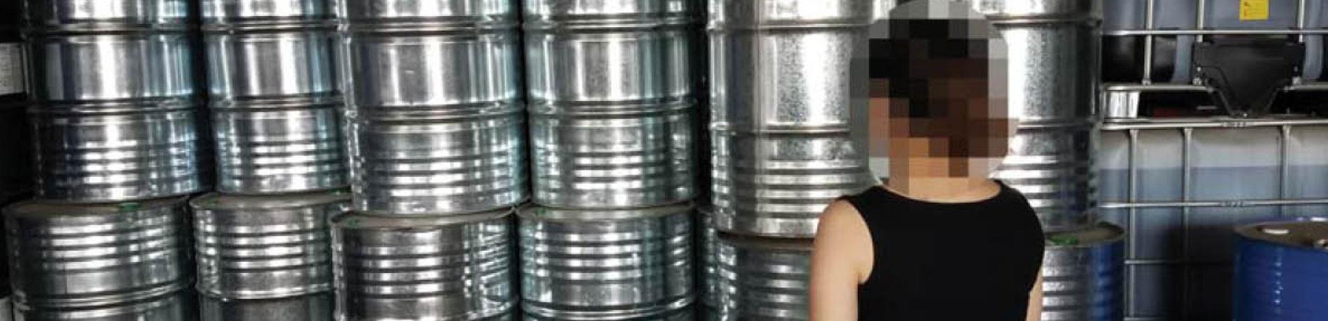 Barrels containing CFCs, China