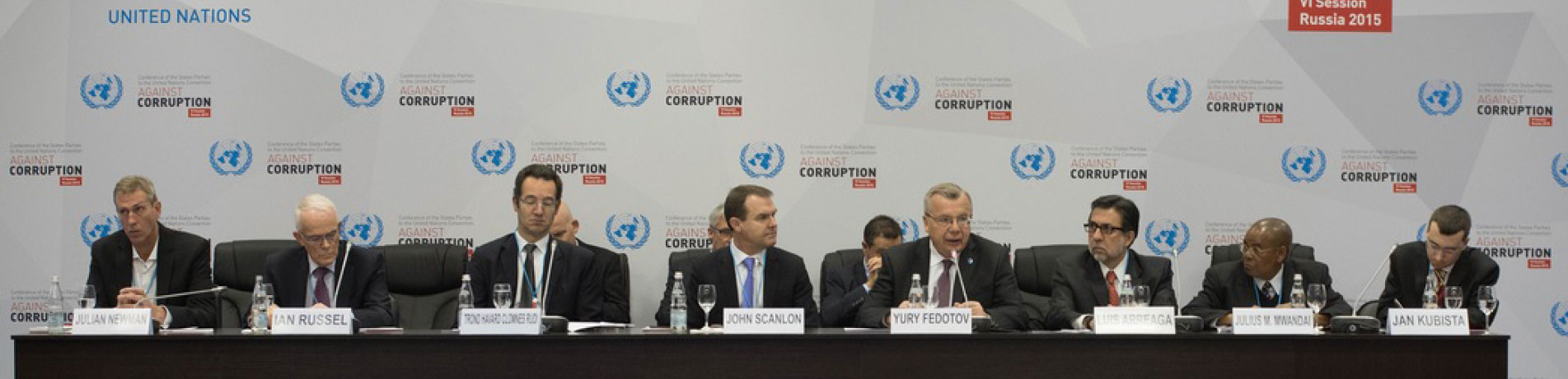 EIA Campaigns Director Julian Newman on a panel with key members of the UN Office on Drugs and Crime (UNODC) and CITES