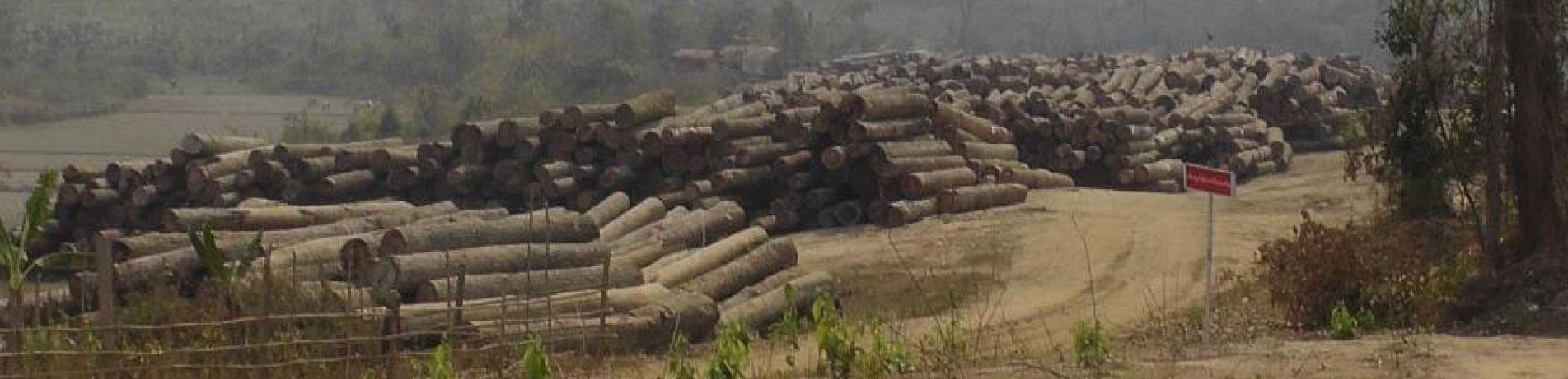 Log depot, Myanmar