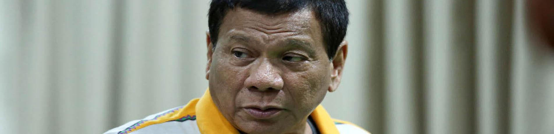 Philippines President Roberto Duterte