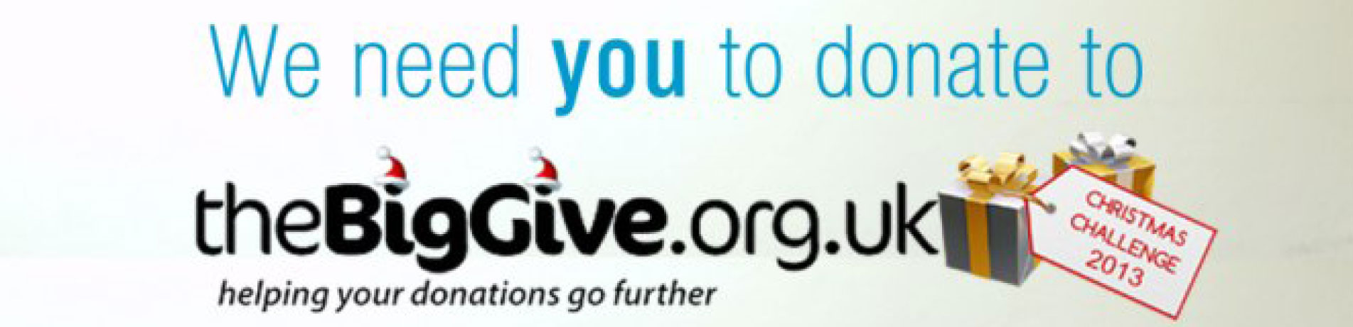 Masthead for the 2013 Big Give Christmas Challenge fundraising campaign