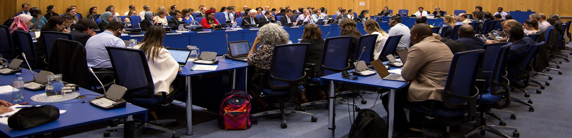 Delegates meeting at the 40th Open Ended Working Group (OEWG) of the Montreal Protocol in Vienna in July 2018