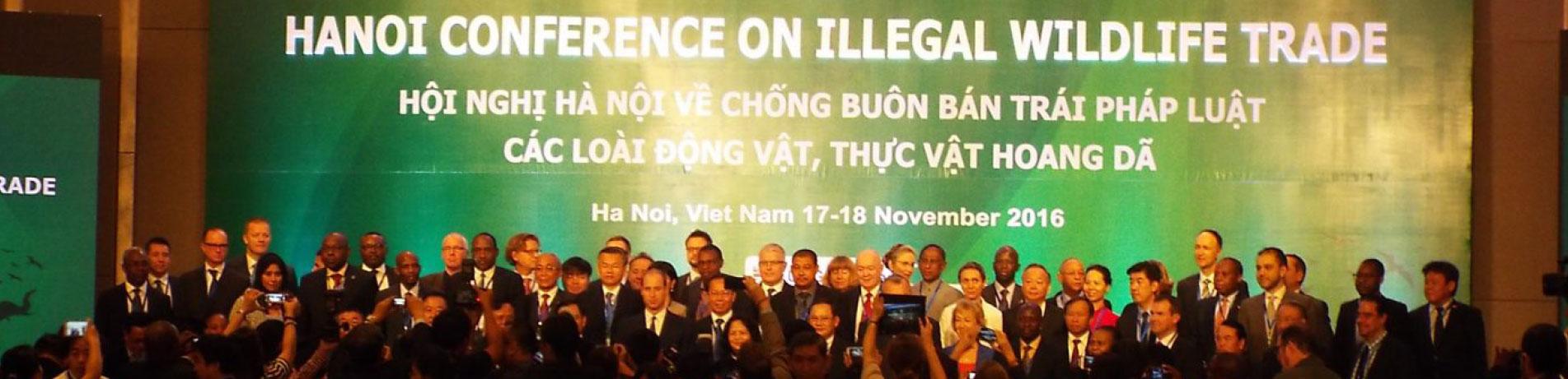Delegates at the Hanoi Conference on Illegal Wildlife Trade, Vietnam (17-18 November 2016)