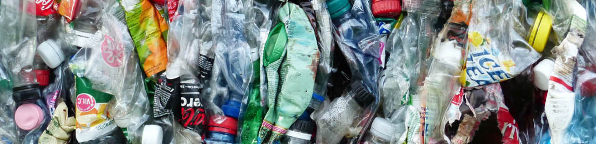 Compacted plastic waste