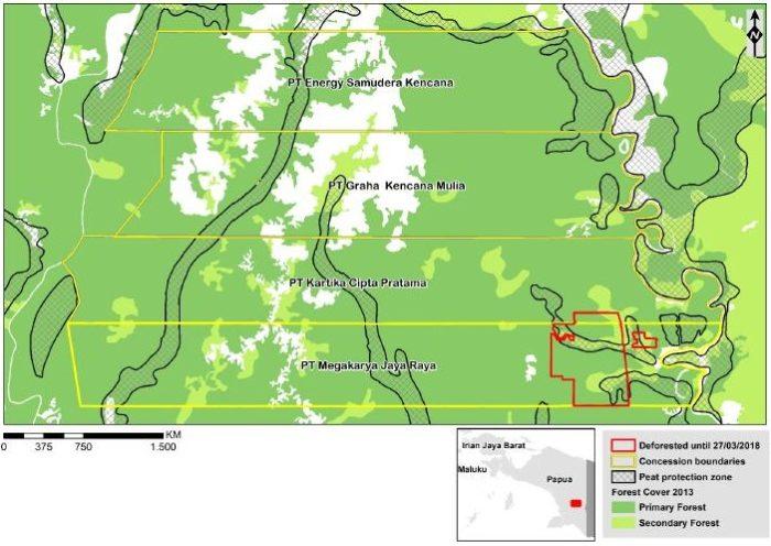 Papua map (c) Greenpeace