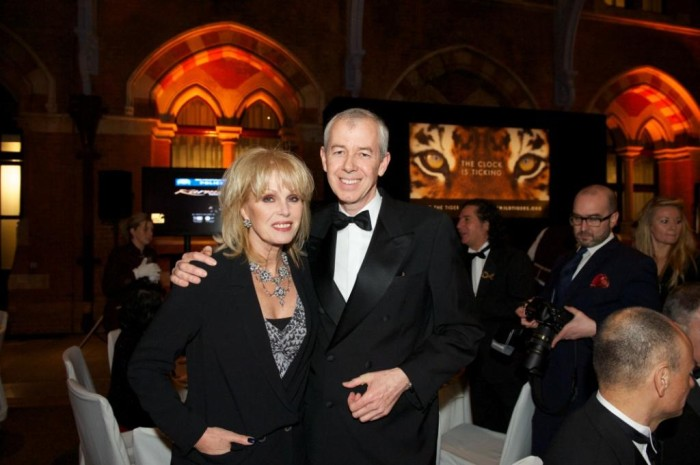 Simon with actress & activist Joanna Lumley at 2013's Save Wild Tigers gala night