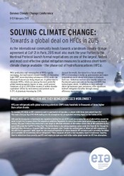 Solving Climate Change: Towards a global deal on HFCs in 2015