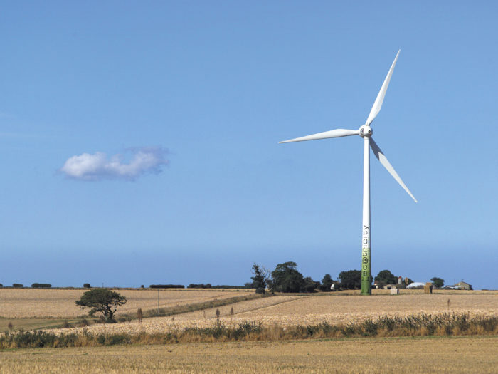 Ecotricity wind turbine, Somerton, Norfolk