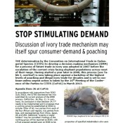 Stop Stimulating Demand