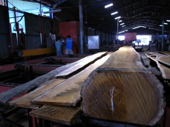 Timber factory saw mill, Indonesia (c) EIA