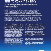 Time to Commit on HFCs