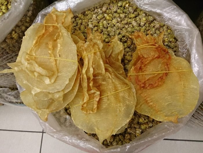 Totoaba maws openly on sale in Guangzhou, China (c) EIA