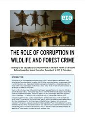 The Role of Corruption in Wildlife and Forest Crime