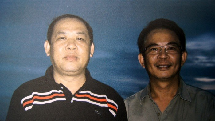 A rare photograph of wildlife crime kingpin Vixay Keosavang, left, with his former lieutenant, Chumlong Lemtongthai.  Chumlong is currently serving a 30-year prison sentence in South Africa. Photo supplied by Julian Rademeyer