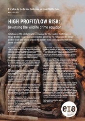 High Profit/Low Risk: Reversing the wildlife crime equation