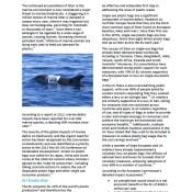 Marine Debris: A global problem needing EU leadership