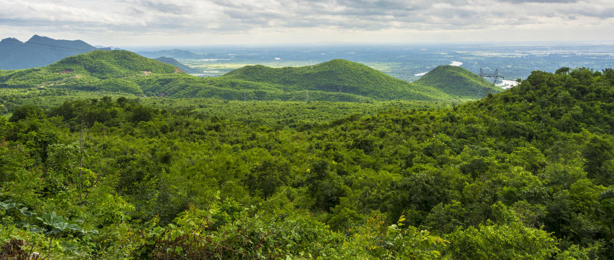 Forested hills in Myanmar