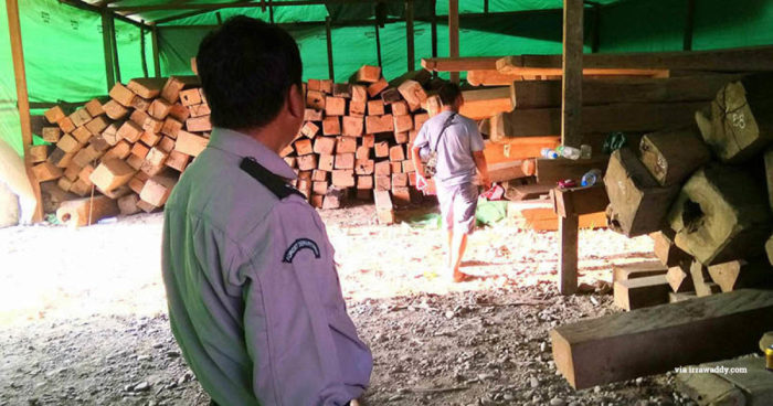 myanmar timber seizure