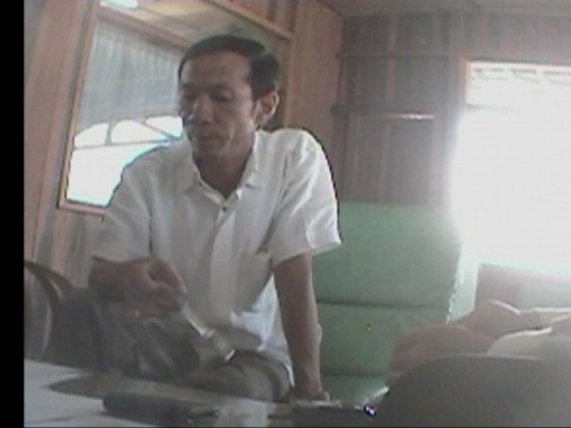 Ricky Gunawan, major player in the smuggling of illicit merbau caught on hidden camera. Credit EIA