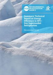 Energy efficiency in HFC-free supermarket refrigeration