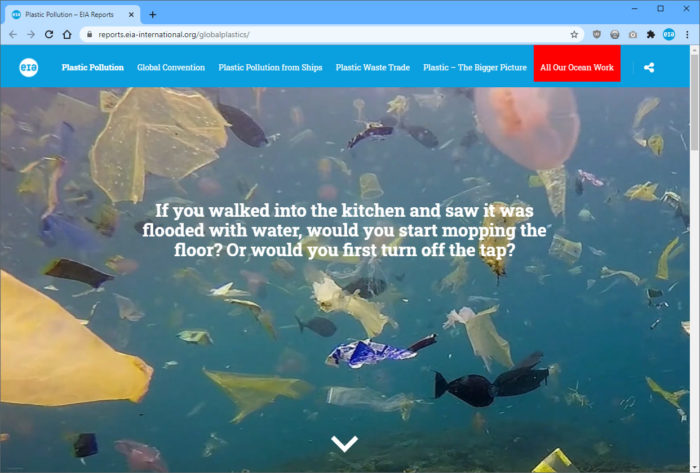 Our microsite on Global Plastic Pollution