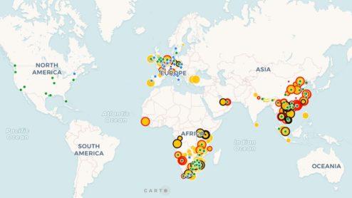 Rhino seizures map 2018